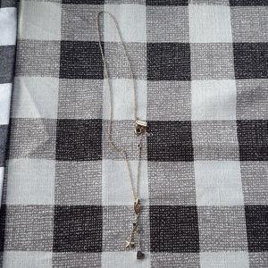 Coach gold bangle necklace